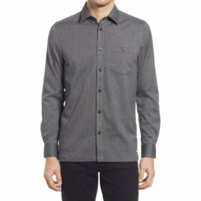 テッドベーカー TED BAKER LONDON メンズ シャツ トップス Robott Button-Up Shirt Dark Grey