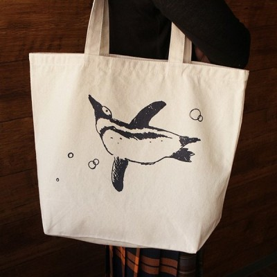 泳ぐ ペンギン BIG トートバッグ ( トートバッグ ファッション 大容量 )