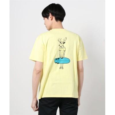 tシャツ Tシャツ ∴【 JONAS CLAESSON / ジョナス・クレアッソン 】DEER QUAD バックプリント ポケット半袖Tシャツ NSB