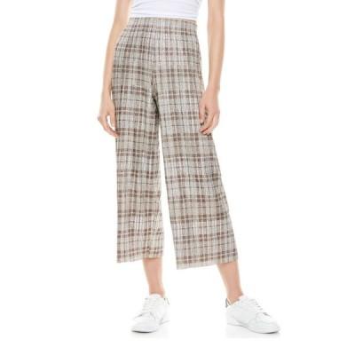 アリス アンド オリビア レディース カジュアルパンツ ボトムス Elba Check Cropped Pants