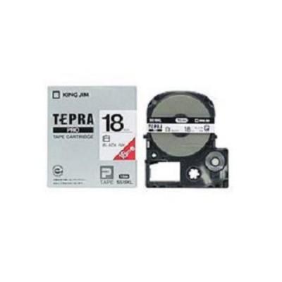 白ラベルテープ 「テプラPRO」(白テープ/黒文字/18MM幅/ロングタイプ) SS18KL