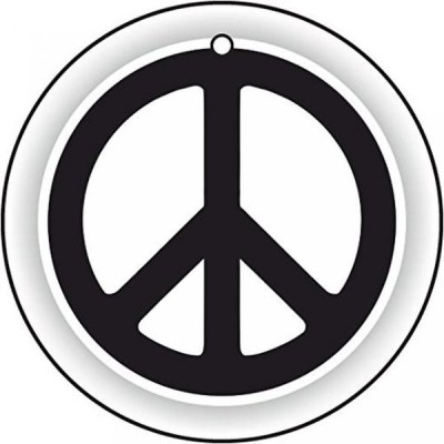 全国配送料無料!平和のロゴの車用芳香剤 海外正規流通品 並行輸入品