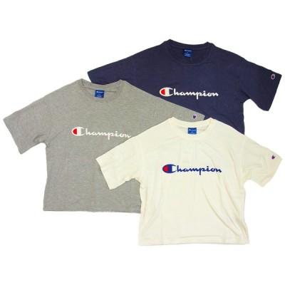 Champion チャンピオン Tシャツ レディース ドロップショルダー 半袖 カットソー クルーネック ロゴ
