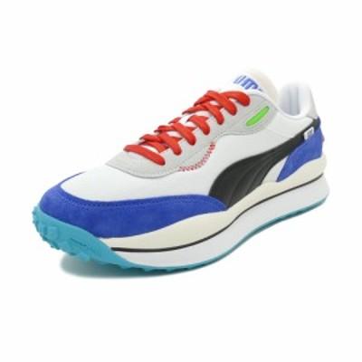 スニーカー プーマ PUMA スタイルライダーライドオン プーマホワイト/ダズブルー/ハイライズ メンズ シューズ 靴 19FW
