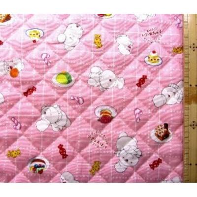 <Qキャラクター・キルティング生地>アッチ・コッチ・ソッチの小さなおばけシリーズ(ピンク)( 2019 - 2020 )キルト 生地幅-約106cm