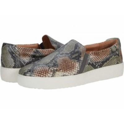 Frye フライ レディース 女性用 シューズ 靴 スニーカー 運動靴 Webster Slip-On Taupe Snake Embossed Leather【送料無料】