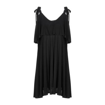 ドンダップ DONDUP ミニワンピース&ドレス ブラック XS レーヨン 100% ミニワンピース&ドレス