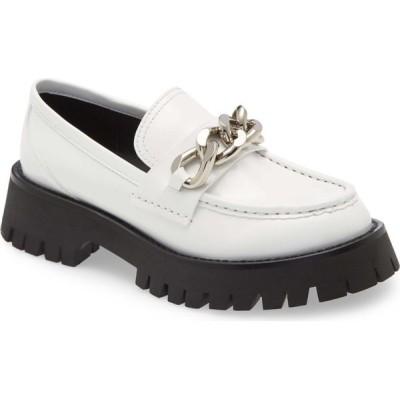 ジェフリー キャンベル JEFFREY CAMPBELL レディース ローファー・オックスフォード シューズ・靴 Recess Chain Platform Loafer White Box