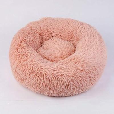 モダンソフトプラッシュペットベッド 豪華なドーナツ抱擁ラウンドドーナツ (中古品)