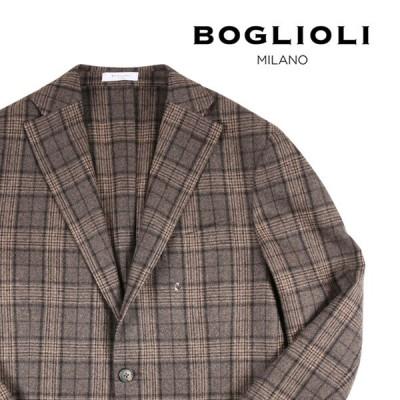 BOGLIOLI(ボリオリ) ジャケット BHC144 ブラウン x ベージュ 50 【W21816】