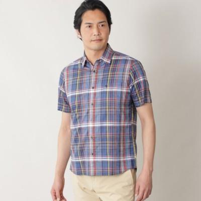 【オーストリア製生地使用】綿麻マドラスチェックシャツ