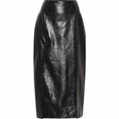 グッチ Gucci レディース ひざ丈スカート ペンシルスカート スカート High-Rise Leather Pencil Skirt Black