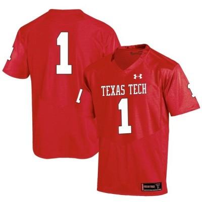 アンダーアーマー ユニフォーム トップス メンズ #1 Texas Tech Red Raiders Under Armour Special Game Replica Jersey Red