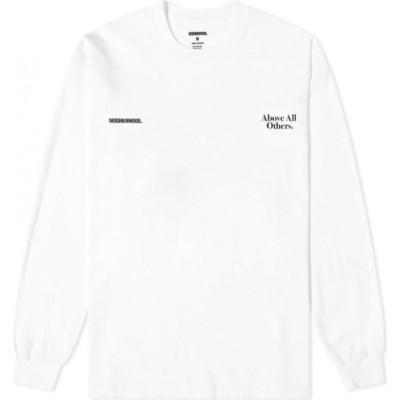 ネイバーフッド Neighborhood メンズ 長袖Tシャツ トップス Long Sleeve Above Tee White