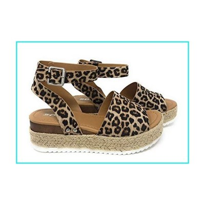 SODA Women's Open Toe Ankle Strap Espadrille Sandal (8 M US, Oat Cheet)【並行輸入品】