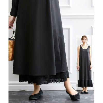 大きいサイズ 裾レースインナーロングワンピース(OtonaSMILE) ,スマイルランド, ワンピース, plus size dress