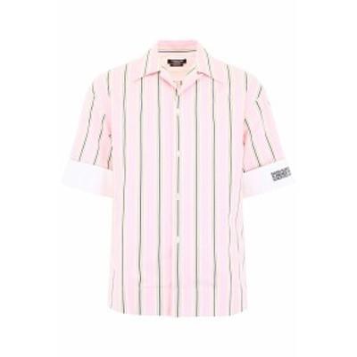 CALVIN KLEIN 205W39NYC/カルバン クライン 205W39NYC 半袖シャツ PINK WHITE YELLOW MARINE Calvin klein 205w39nyc striped shirt メン