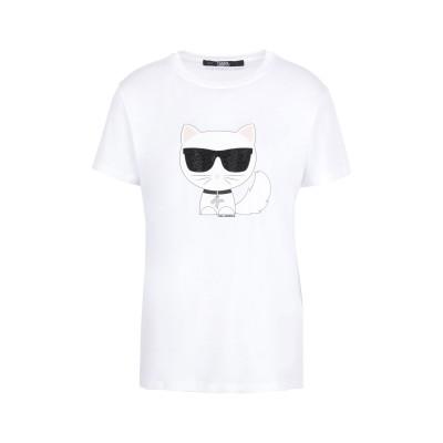 カールラガーフェルド KARL LAGERFELD T シャツ ホワイト XS コットン 100% T シャツ