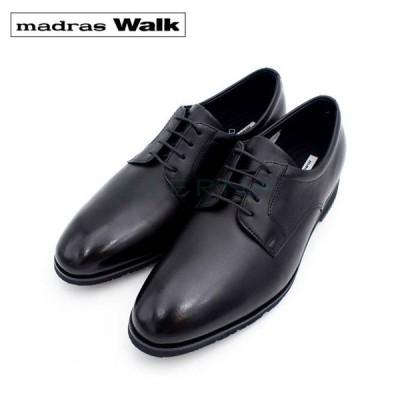 madras Walk マドラスウォーク メンズシューズ ビジネスシューズ スーツ レザー 外羽根 シンプル プレーン 防水 軽量 ゴアテックス 4E ブラック 黒 MW8002