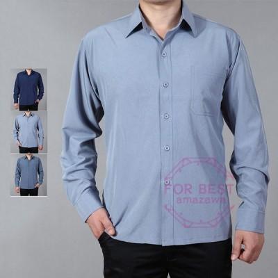 シャツ メンズ 長袖 夏 長袖シャツ カジュアルシャツ 開襟シャツ おしゃれ 夏物