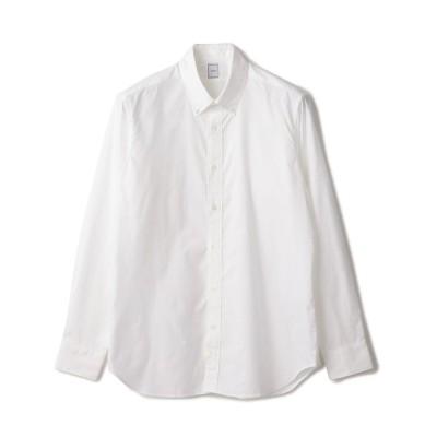 【シップス】 DC: ウォッシュド ボタンダウン ソリッド シャツ メンズ ホワイト SMALL SHIPS