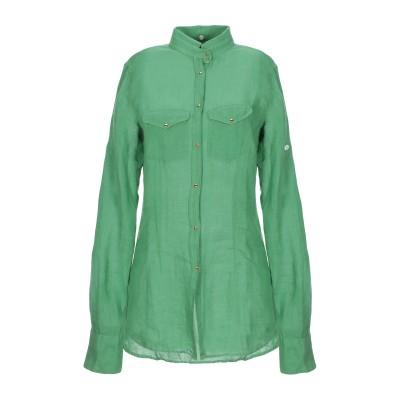 アリーニ AGLINI シャツ グリーン XL リネン 100% シャツ