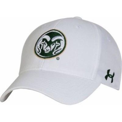 アンダーアーマー メンズ 帽子 アクセサリー Under Armour Men's Colorado State Rams White Adjustable Hat