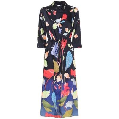 ピーター ピロット Peter Pilotto レディース ワンピース シャツワンピース ワンピース・ドレス Floral twill shirt dress Water Flower Black
