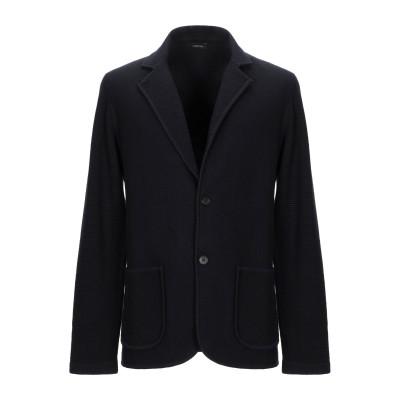 ZZEGNA テーラードジャケット ダークブルー L ウール 100% テーラードジャケット