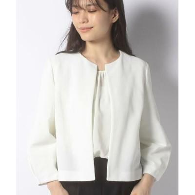 ANAYI/アナイ カラミノーカラージャケット ホワイト1 36