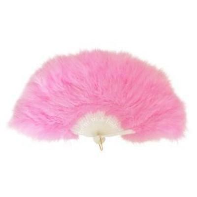 ds-2000178 ふわふわ羽扇子/コスプレ衣装 【ピンク】 天然羽毛製 メイン部分約30cm 〔イベント〕 (ds2000178)
