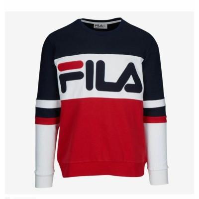 FILA MEN/フィラ メンズ  トレーナー Fila Freddie Sweatshirt レッド/ネイビー/ホワイト