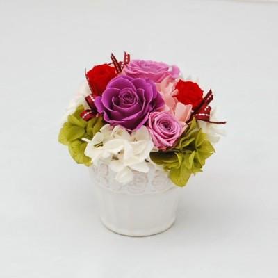 プリザーブドフラワー ギフト  ご結婚祝い ご出産祝い 退職祝い お誕生日 記念日 プレゼント 贈り物 ケース入り 紫色の薔薇 ジュリー