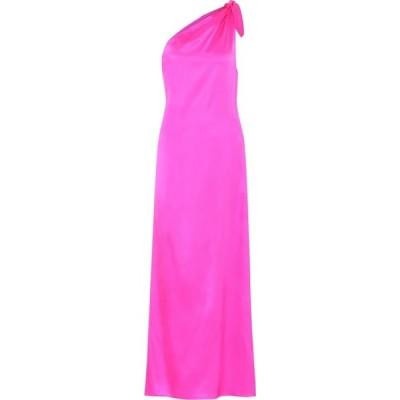 ベルナデッタ Bernadette レディース パーティードレス ワンショルダー ワンピース・ドレス Lucy silk-satin one-shoulder dress Shocking Pink
