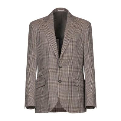 ブルネロ クチネリ BRUNELLO CUCINELLI テーラードジャケット キャメル 50 リネン 66% / ウール 31% / シルク 3%