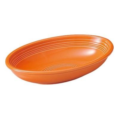 大皿 27cmベーカー オレンジ オービット カレー皿 楕円皿 おしゃれ 洋食器 業務用 美濃焼 k12650071