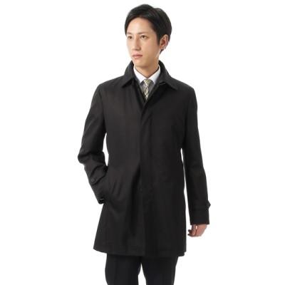 フード付ステンカラースタイリッシュコート【合繊】
