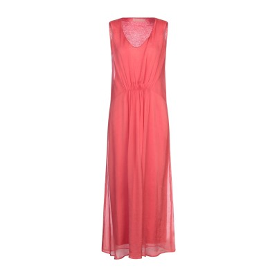 120% ロングワンピース&ドレス コーラル 40 シルク 100% ロングワンピース&ドレス