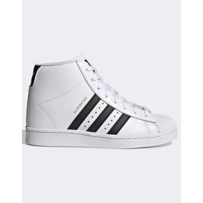 アディダス レディース スニーカー シューズ adidas Originals Superstar Up sneakers in white
