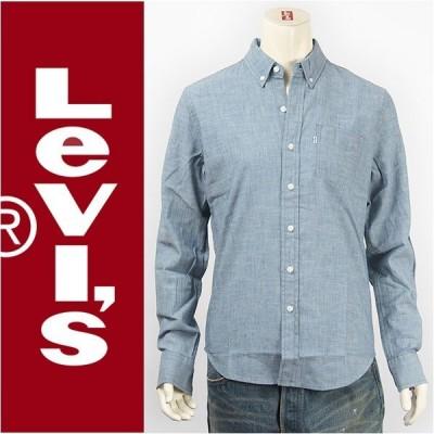 Levi's リーバイス クラシック ワンポケットシャツ シャンブレー ライトインディゴ Levi's Shirt 19586-0014 長袖