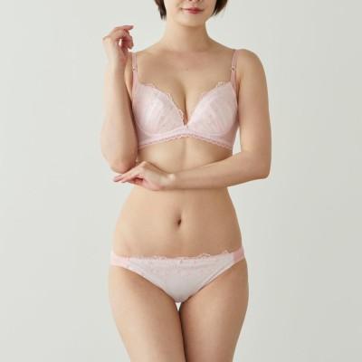 小花カラーレースブラ&ショーツセット(エレガンテ/Elegante)