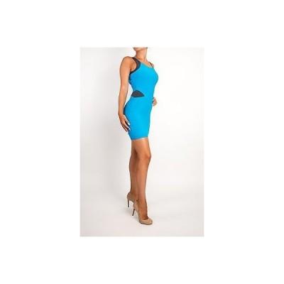 ドレス ボウリー  Boulee Bright Blue Sexy Stretch Dress Fitted Bodycon