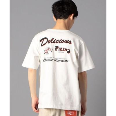 tシャツ Tシャツ バックプリント/前面プリント/ワンポイントロゴ イラストデザイン クルーネック半袖Tシャツ