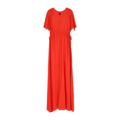 ピンコ PINKO ロングワンピース&ドレス レッド 38 レーヨン 100% ロングワンピース&ドレス