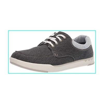 【新品】Clarks Men's Step Isle Lace Sneaker, Black Canvas, 070 M US(並行輸入品)
