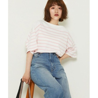 FREAK'S STORE / パネルボーダーBIG半袖Tシャツ【一部WEB限定】 WOMEN トップス > Tシャツ/カットソー