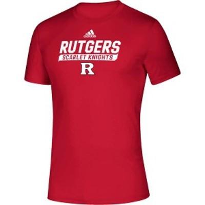 アディダス メンズ Tシャツ トップス adidas Men's Rutgers Scarlet Knights Scarlet Tail Sweep Performance T-Shirt -