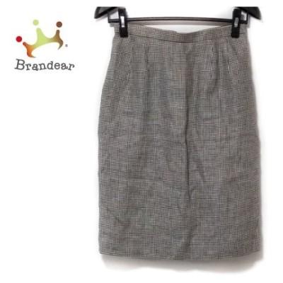 バーバリーズ Burberry's スカート サイズ9 M レディース 黒×白 千鳥格子   スペシャル特価 20200629