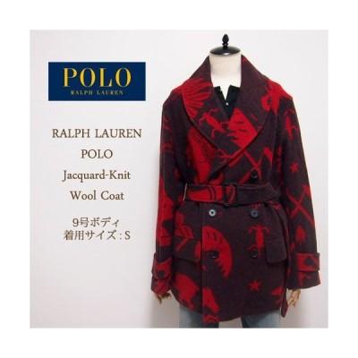 【SALE】【POLO by Ralph Lauren】ポロ ラルフローレン ジャガード柄 ショールカラー コート
