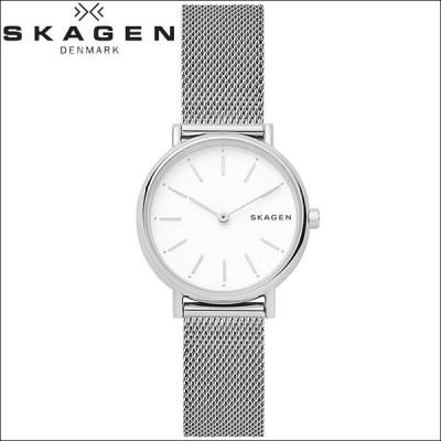 (5年保証) 時計 スカーゲン SKAGEN SKW2692 シグネチャー 腕時計 レディース ホワイト メッシュ